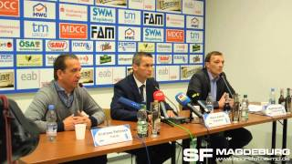 Pressekonferenz 1. FC Magdeburg Andreas Petersen verlängert nicht 19.03.2014 - www.sportfotos-md.de