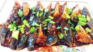 Китайская кухня.  Столетние яйца.  Китайский деликатес.