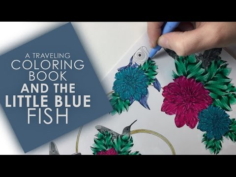 A Traveling Coloring Book & The Little Blue Fish #LMtravelingCB