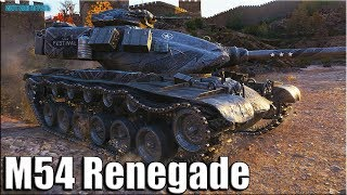 Красиво затащил M54 Renegade ✅ 8500 урона ✅ World of Tanks лучший бой прем танк за марафон