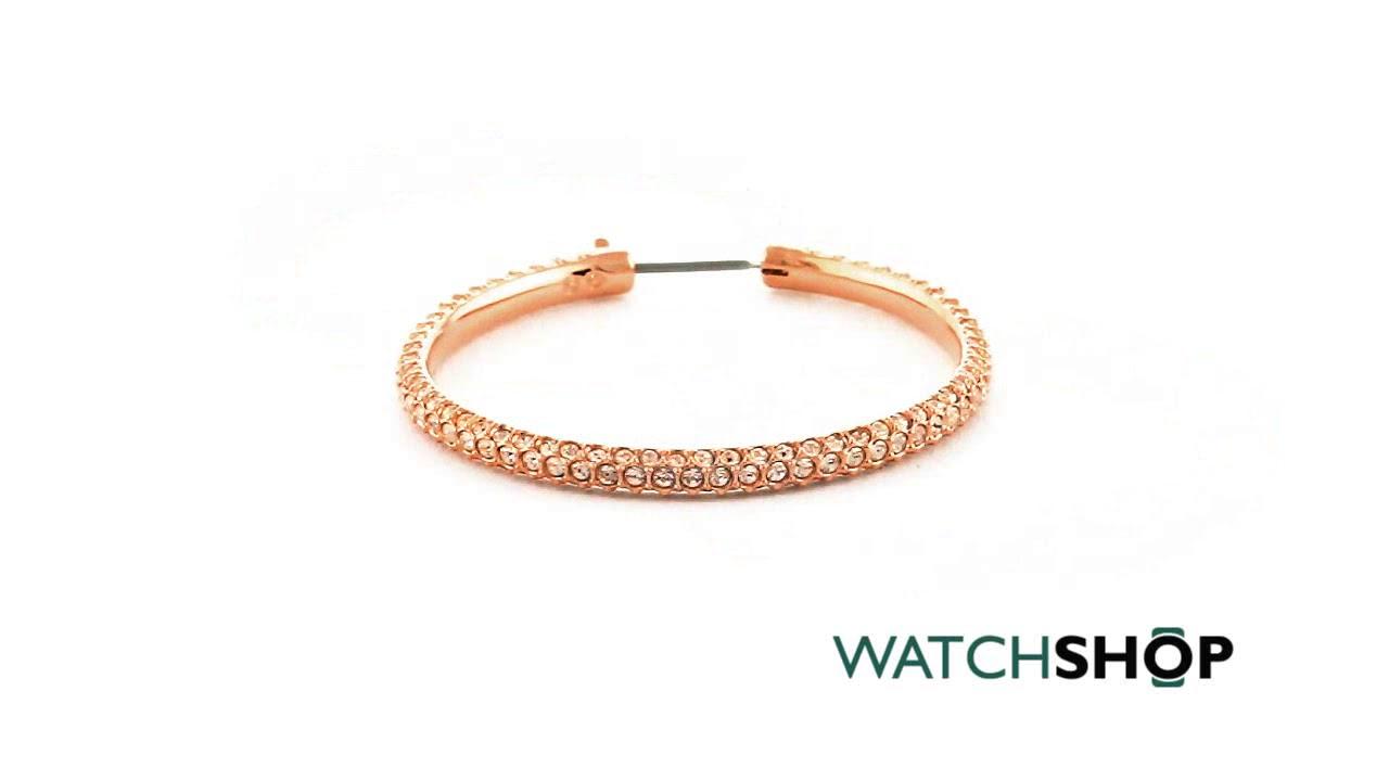e79a8ea4f Ladies Swarovski Rose Gold Plated Stone Hoop Earrings (5383938 ...