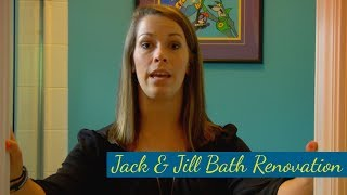 Bathroom Renovation - Before: Jack & Jill