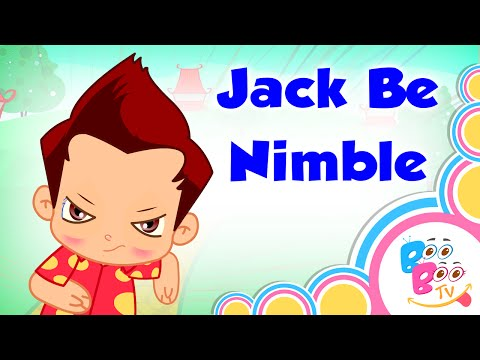 Jack Be Nimble With Lyrics - English Kids Nursery Rhyme - Video Song For Children by Boo Boo Tv