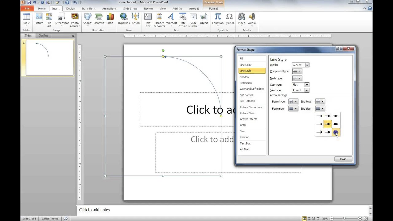how to draw a curved double arrow in powerpoint - the easy way, Powerpoint templates