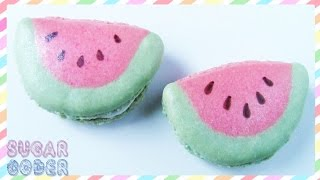 Watermelon Macarons, Watermelon Cookies - By Sugarcoder