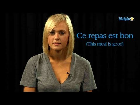 How to say good food in french