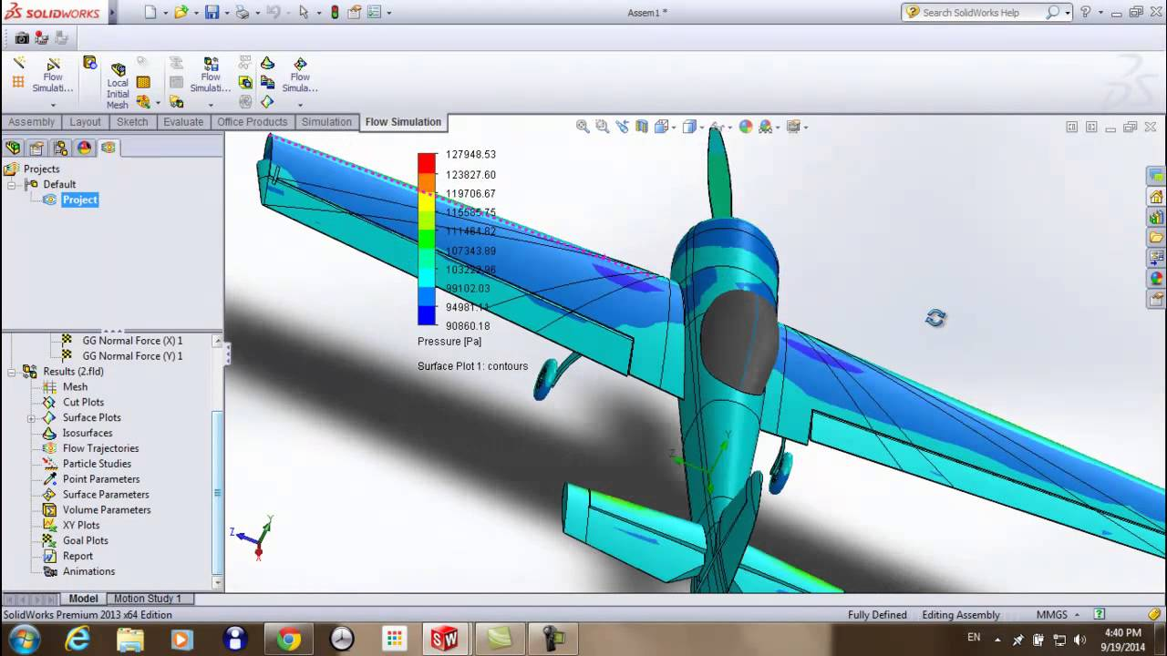 Flow simulation | using solidworks | - YouTube