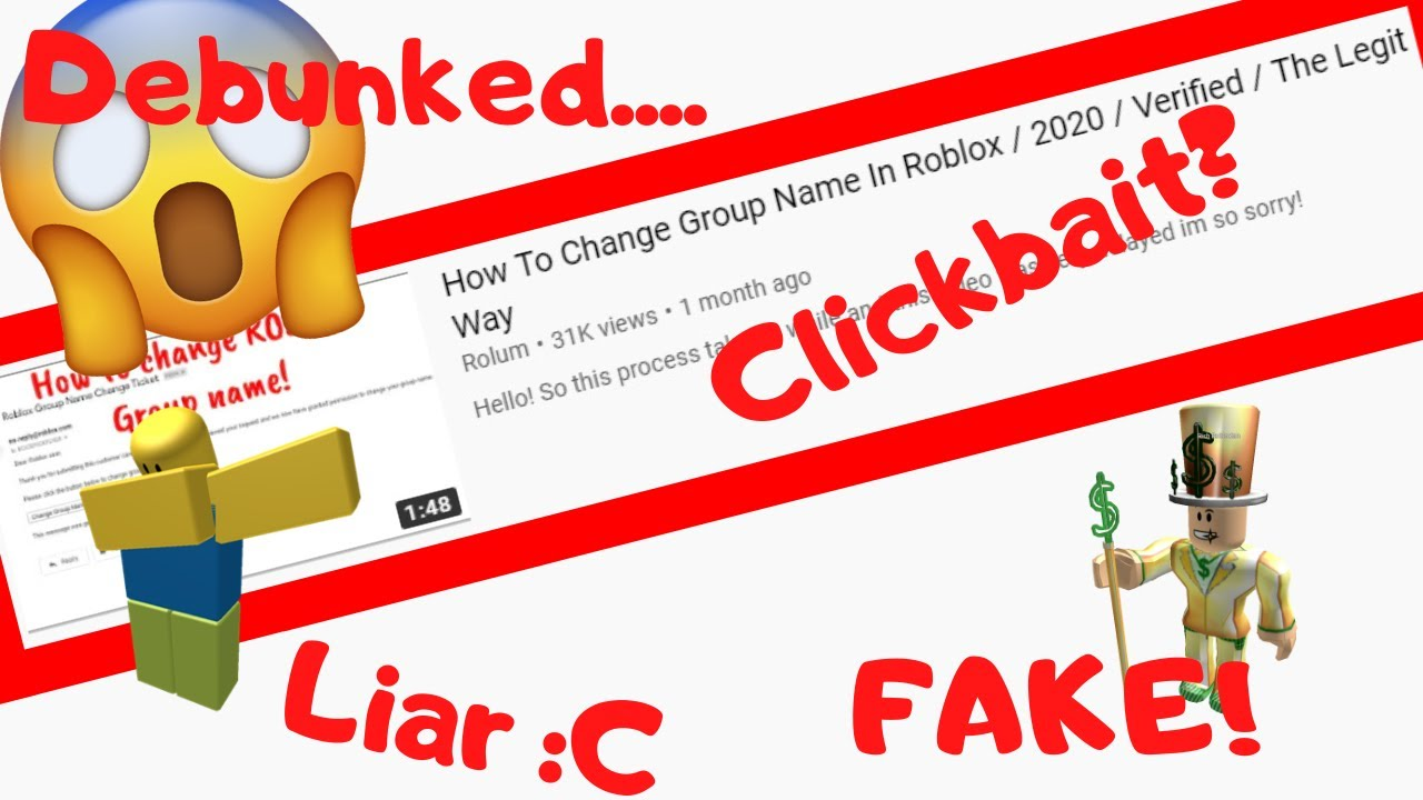 I Debunked The How To Change Group Name In Roblox Vid Fake