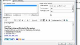 How to Create an Email Signature in Microsoft Outlook 2007