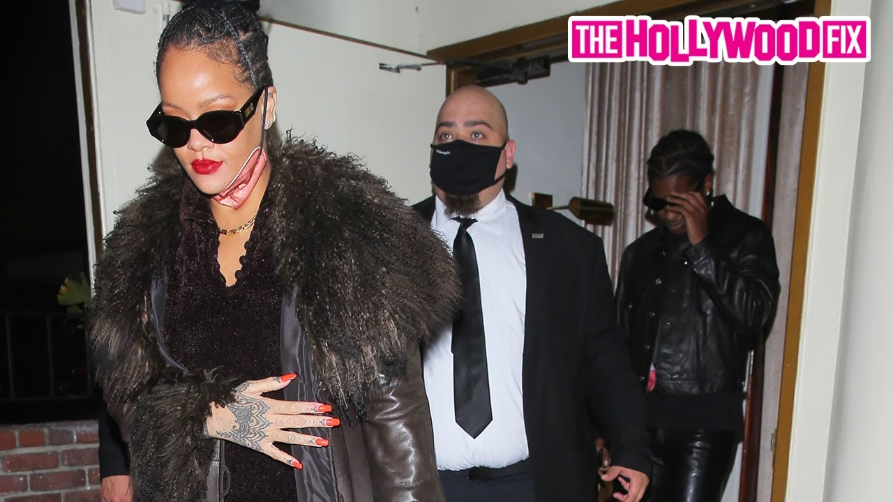 Rihanna & ASAP Rocky Speak On The Volcano Eruption In Barbados On Date Night Together At Delilah