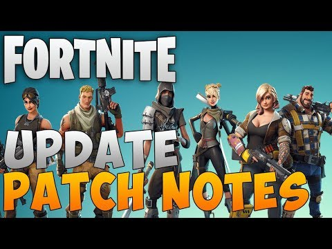 "Fortnite Save the World Update ""Fortnite Patch Notes"" Fortnite New Update Info"
