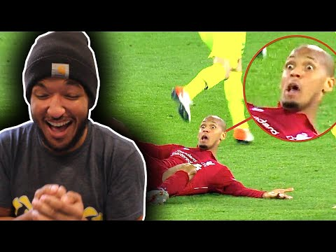 CRINGE!! American Reacts to COMEDY FOOTBALL & FUNNIEST MOMENTS
