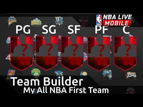 NBA Live Mobile - Team Builder - All NBA 1st Team