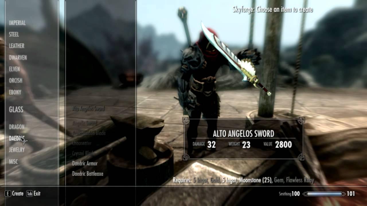 Xbox One Skyrim Mod Crafting All