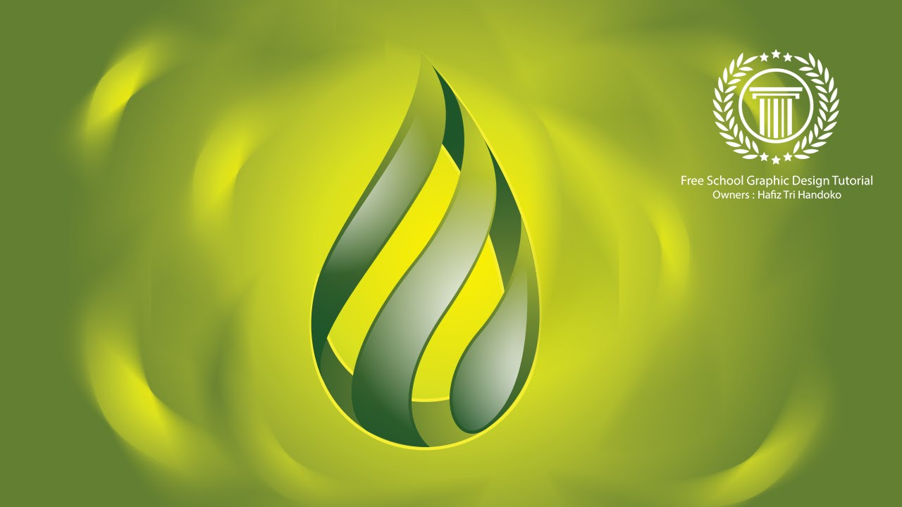 how to create water drop oil gas logo design in 3d