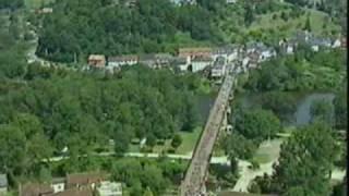 air view Beaulieu sur Dordogne France