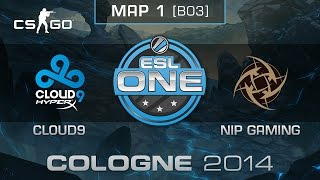 Cloud9 vs. NiP Gaming (Map 1) - ESL One Cologne 2014 - Quarterfinals - CS:GO