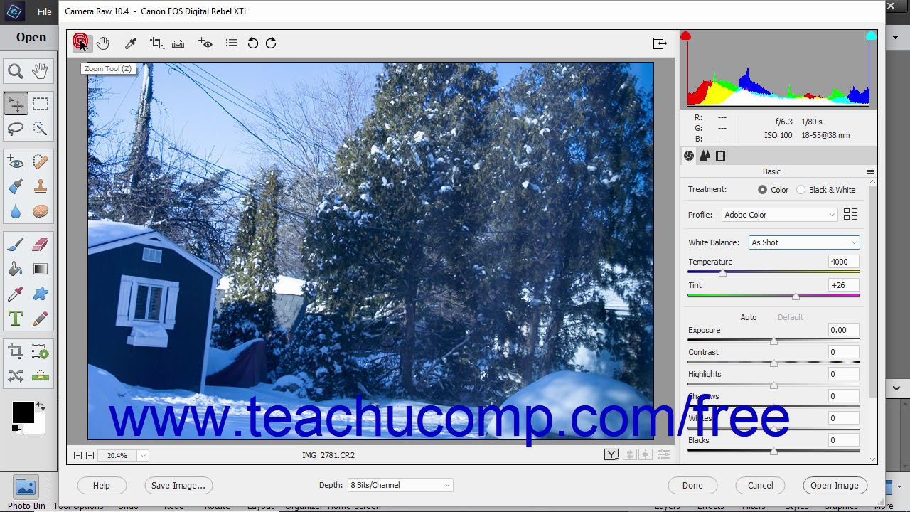 Adjust the White Balance in Camera Raw in Photoshop Elements