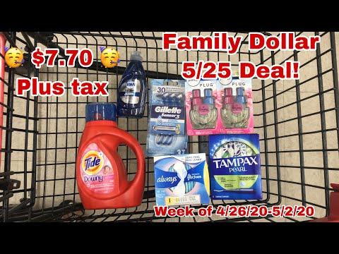Family Dollar 5/25 All Digital Deal | $7.70 🥳 For 7 Items🥰