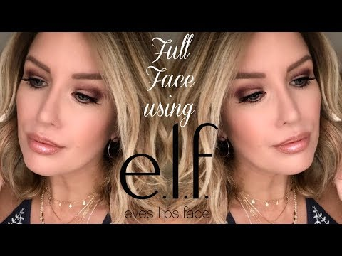 FULL FACE USING E.L.F. MAKEUP TUTORIAL | Complete Look Under $50!