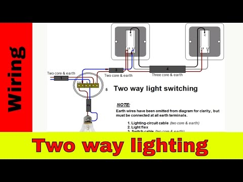How to wire two way lighting circuit.