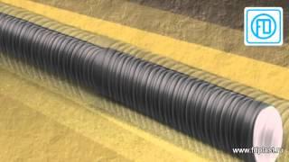 видео Купить двухслойные трубы ПНД/ПВД для защиты кабеля. Цены ниже рыночных, оптом и в розницу.Скидки. В бухтах.