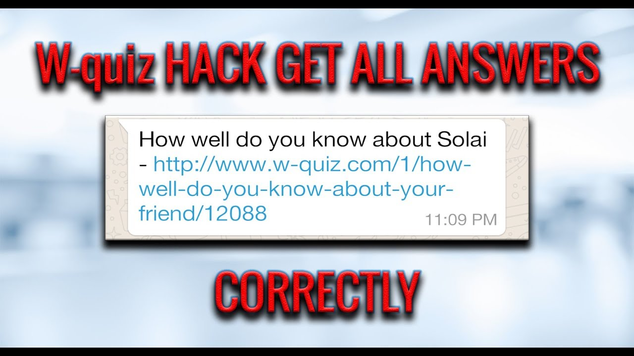 HOW TO HACK W-QUIZ||LATEST HACK||ANSWER 10/10 CORRECTLY||EASY STEPS||