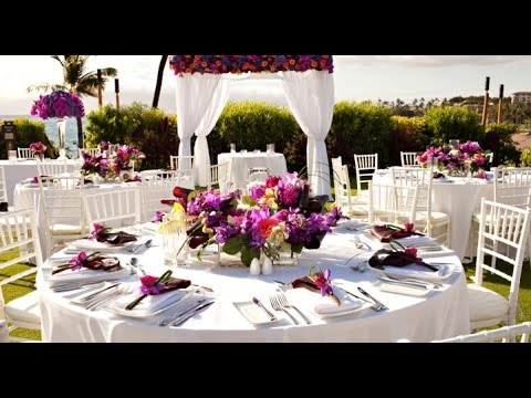 Hawaiian Wedding Table Decorations Youtube