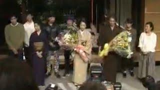 連続テレビ小説「あさが来た」の最後の収録が、NHK大阪放送局のスタ...