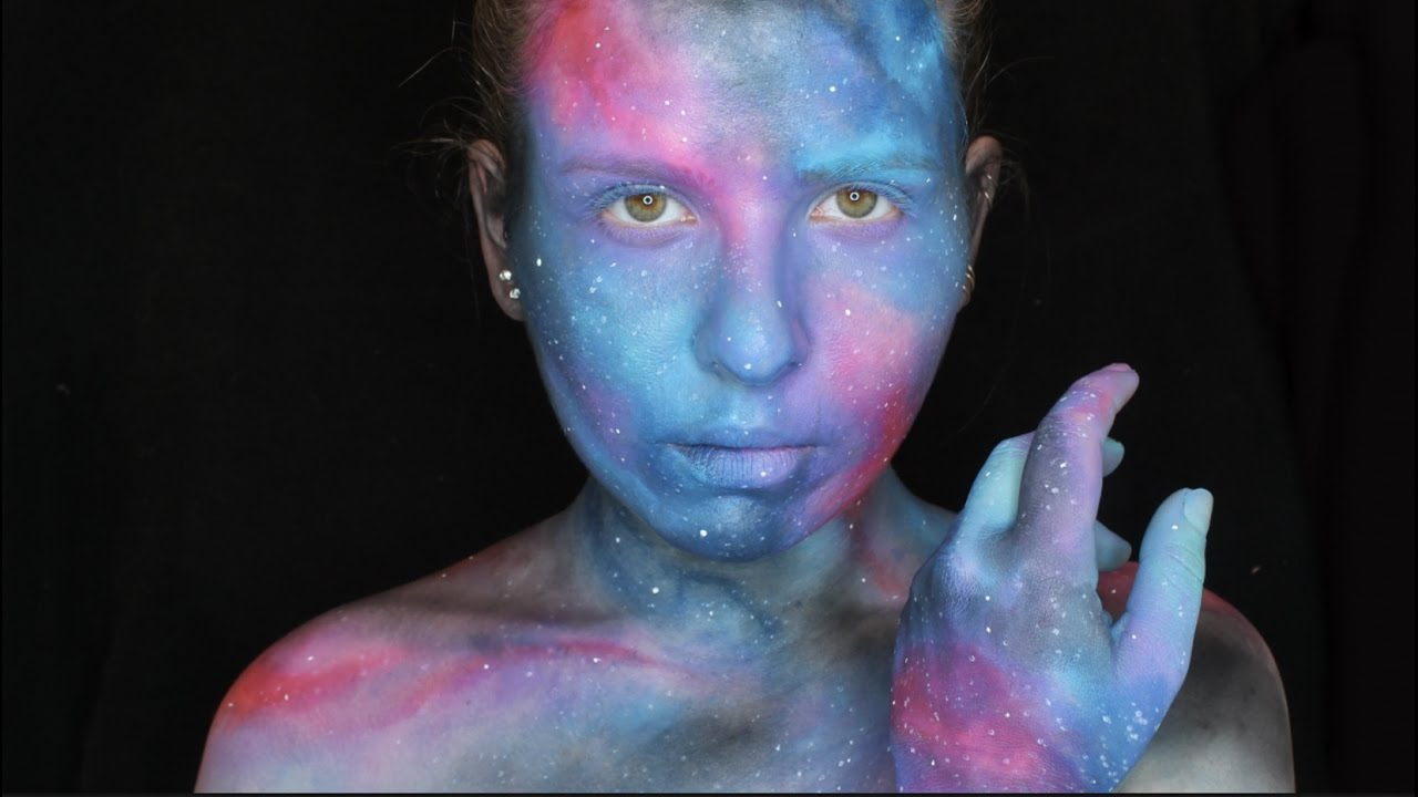 Galaxy Nebula Body Art Makeup Tutorial No Body Paint Grin And Dagger Youtube