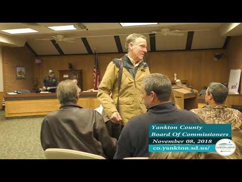 Yankton County Commission November 08, 2018 Meeting