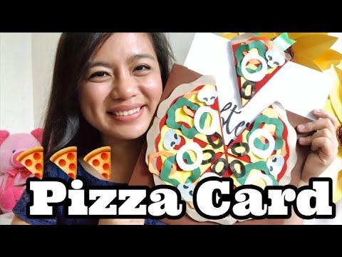 PAPER PIZZA GREETING CARD! DIY BESH! | TAGALOG | Michelle Ann Agustin