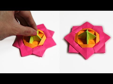 Origami high-speed table spinner with your own hands | NO GLUE paper toys for kids