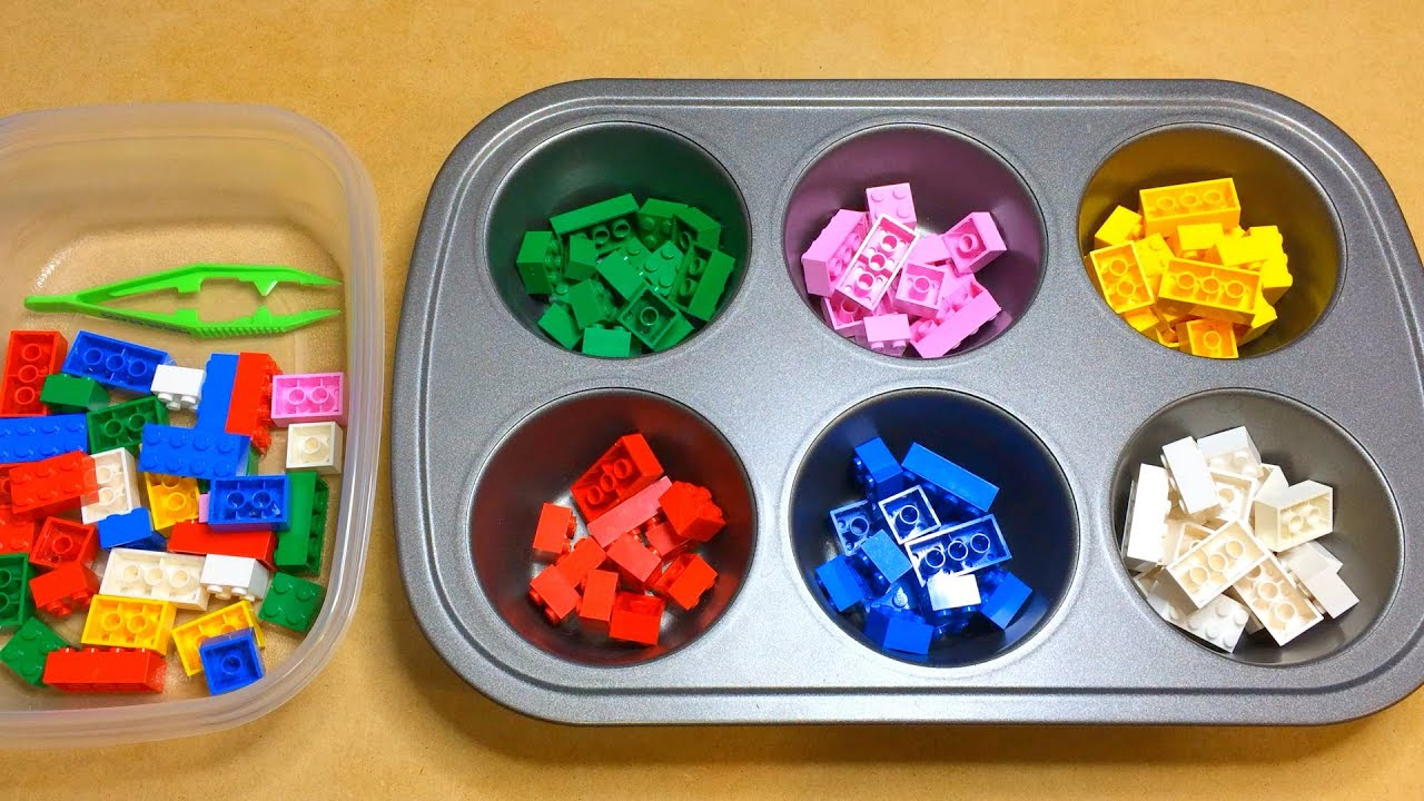 Lego Color Sorting Activity For Preschool Math And Fine Motor Development