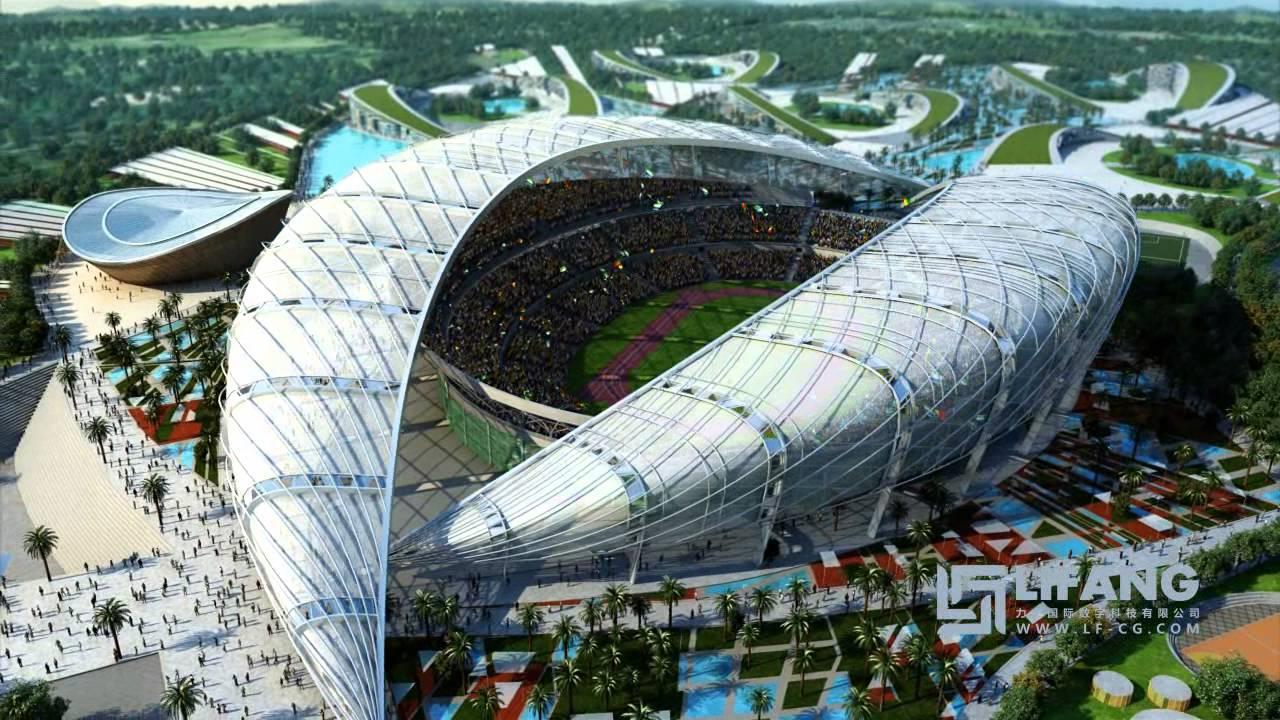 Brazzaville Stadium Cgi Architectural Animation Youtube