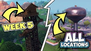Dance On Top Of A Water TOWER, Ranger TOWER, Air Traffic Control Tower [ALL Fortnite LOCATIONS]