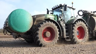 Fendt 1042 Vario Laying Out Manure w/ Samsom PG II 25 HWD w/ Disc-Cultivator | DK Agriculture