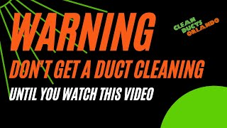 🆕Air Duct Cleaning 🏽👉🏾 Duct Cleaning  Orlando, Fl  Orange County Must Watch!