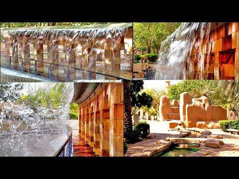 Fountain and waterfall of king AbdulAziz National Museum Park Riyadh Saudi Arabia
