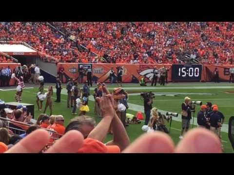 Denver Broncos T Rex Cheerleader costume