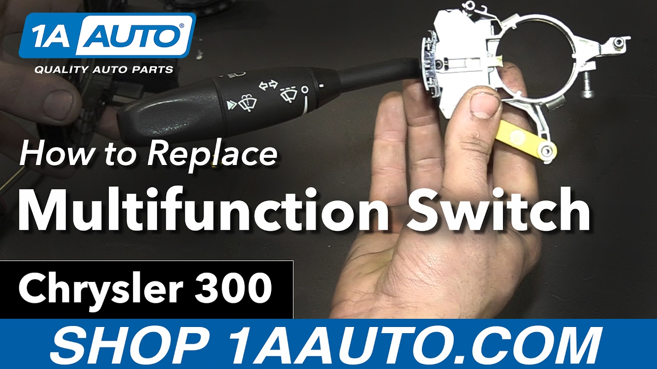 maxresdefault how to replace install multifunction switch 06 chrysler 300 youtube  at eliteediting.co
