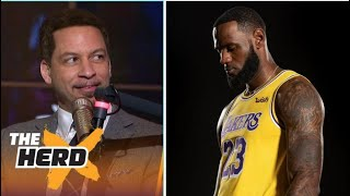 THE HERD |  Chris Broussard reacts LeBron, Lakers fall to Mavs 108-104 in Scrimmage; LeBron: 12 Pts