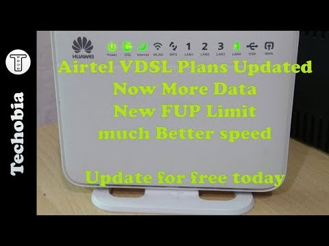 Airtel VDSL Broadband Plans Revised | More Data | New FUP | Speedtest | My Experience
