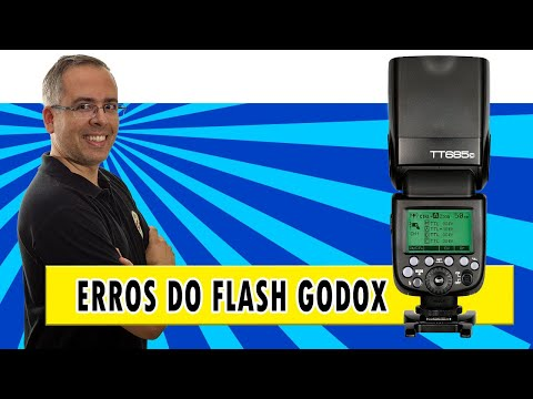 Códigos de erro do flash Godox