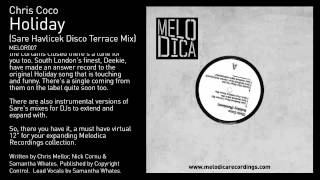 Chris Coco - Holiday (Sare Havlicek Disco Terrace Mix)