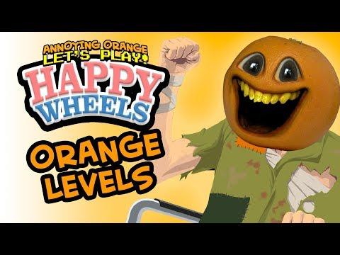 AO Happy Wheels Levels! [Annoying Orange Plays]