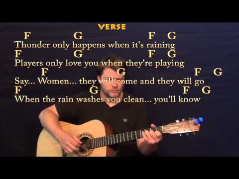 Dreams (Fleetwood Mac) Fingerstyle Guitar Cover Lesson with Lyrics/Chords