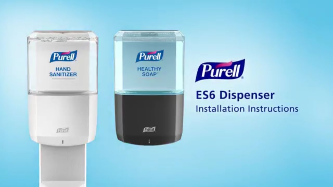 Purell Es6 Touch Free Dispenser Installation Instructions Youtube