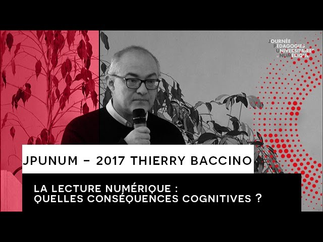 JPUNUM 2017 - INTERVENTION THIERRY BACCINO