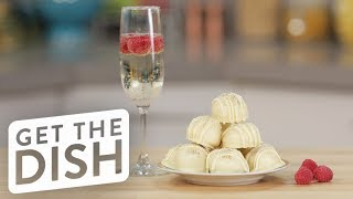 White Chocolate Prosecco Truffles | Get the Dish
